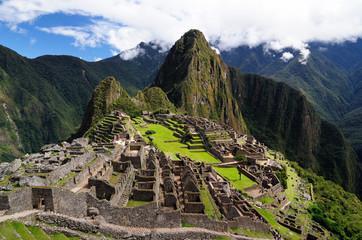 The Incan ruins Machu Picchu mysterious city in Peru, South America