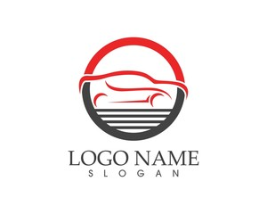 Auto car logo design template