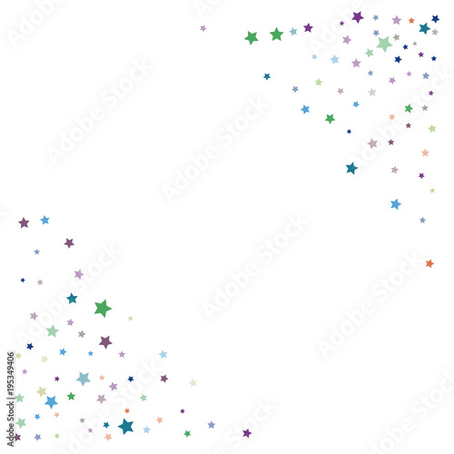 glitter vector falling stars pattern carnival festival confetti celebration border christmas new year