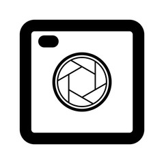 Camera shutter icon symbol and shutter blade of camera vector illustration