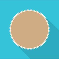 Round postage stamp icon. Flat illustration of round postage stamp vector icon for web