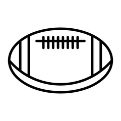 ball American football oval icon vector  American football symbol illustration