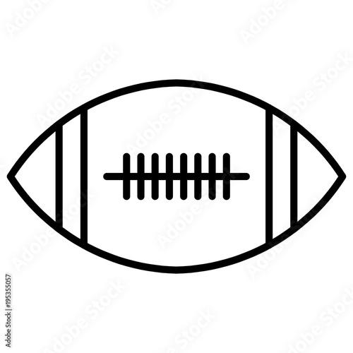 Ball American Football Oval Icon Vector American Football Symbol