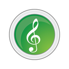 musical symbols and notes vector on white background illustration