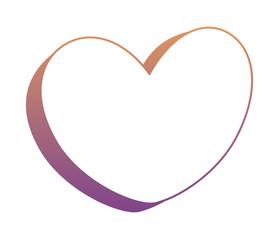 Heart shape icon over white background, vector illustration