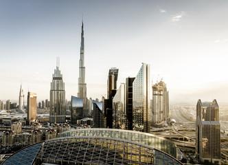 Keuken foto achterwand Dubai Dubai downtown skyline