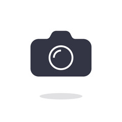 Camera icon in trendy flat style isolated on white background ca