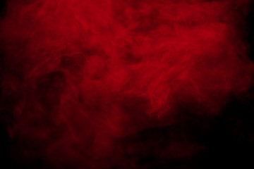 Abstract red smoke on black  background. Red color clouds. Fotoväggar