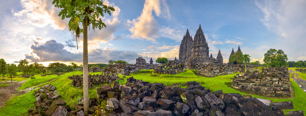 Foto op Canvas Indonesië Mysterious temple complex Prambanan, Indonesia