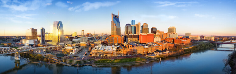 Nashville skyline in the morning Wall mural
