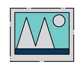 Picture icon over white background, colorful design. vector illustration