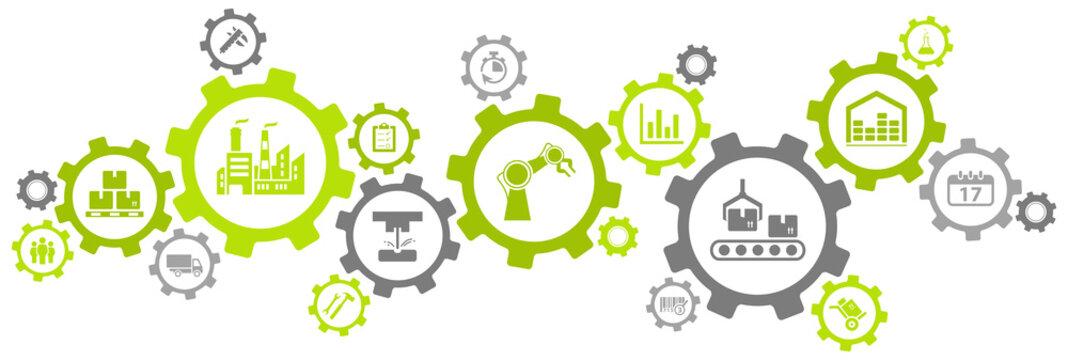 manufacturing challenges design - vector illustration