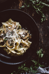 Pappardelle with Mushroom Stroganoff