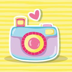 Punchy pastel camera