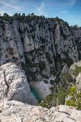 Calanque d' En Vau près de Cassis en Provence , France