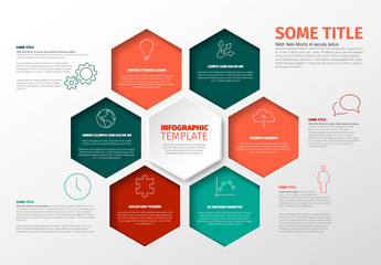 Colorful Hexagons Infographic Layout