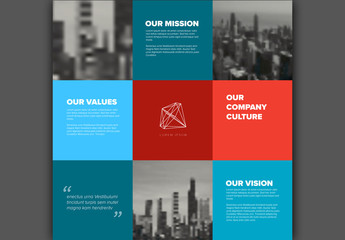 Corporate Vision Infographic Layout