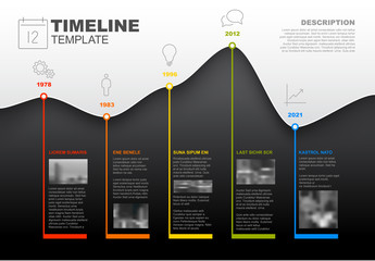 Wavy Line Timeline Infographic Layout