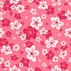Cherry Blossoms Wallpaper Seamless Pattern Background