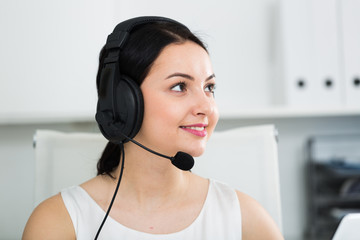 Woman working in call-center
