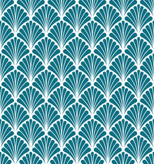 Abstract Floral Seamless Art Deco Pattern. Stylish antique background.