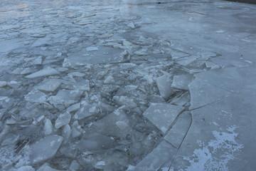 gebrochene Eisschollen