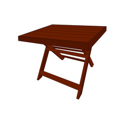 Vector modern wooden table furniture isolated design
