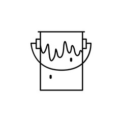 paint icon.Element of popular сonstruction tools icon. Premium quality graphic design. Signs, symbols collection icon for websites, web design,
