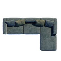 Sofa top view with path selection