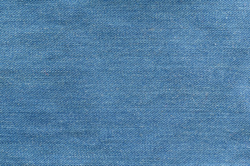 Blue jeans textile. Denim texture close up