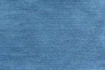 Blue jeans textile. Denim texture close up
