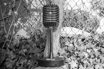A haunted microphone decoration for the holiday