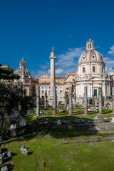 Trajansäule am Forum Romanum in Rom in Italien