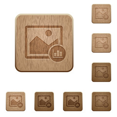 Image histogram wooden buttons