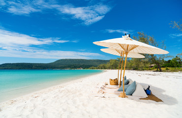 Landscape of beautiful beach
