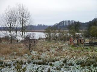 Landschaft an der Müritz im Winter