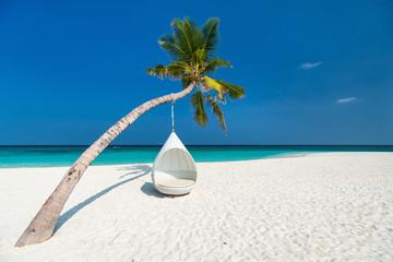 Wall Mural - Beautiful tropical beach in Maldives