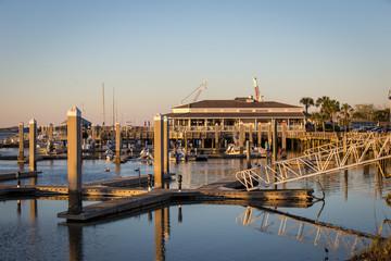 Fernandina Beach Marina at Sunset