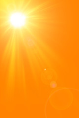 Sunny nature Summer abstract background with shining sun