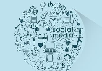 Hand-Drawn Social Media Icon Comma Illustration