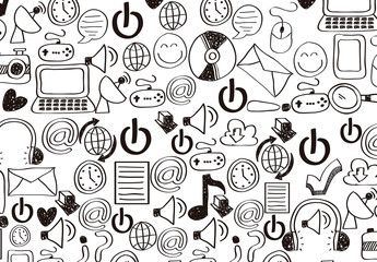 Hand-Drawn Social Media Icon Pattern