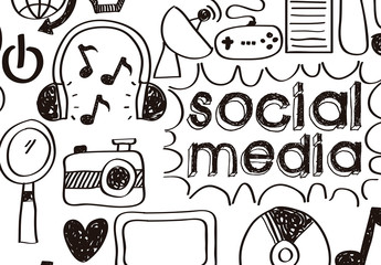Hand-Drawn Style Social Media Icon Set 1