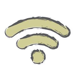 Rough Brush Icon - Wifi