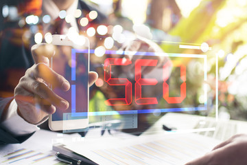 Internet marketing and online banking payment on mobile smart device app via digital communication technology service