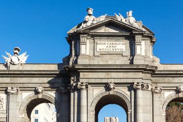 Puerta de Alcala in City of Madrid, Spain