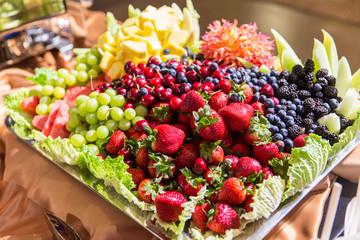 Abundant and Colorful Fresh Fruit Platter