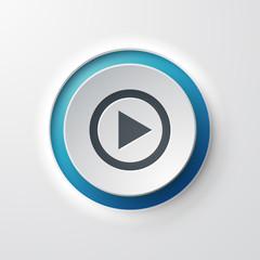 icône bouton Lecture Musique Vidéo