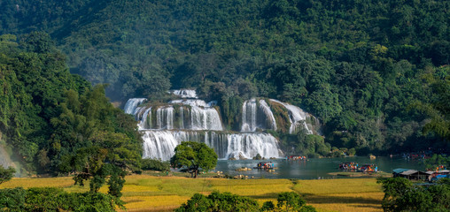 Ban Gioc Waterfall - Detian waterfall Ban Gioc Waterfall - Detian waterfall Ban Gioc Waterfall is the most magnificent waterfall in Vietnam, located in Dam Thuy Commune, Trung Khanh District, Cao Bang