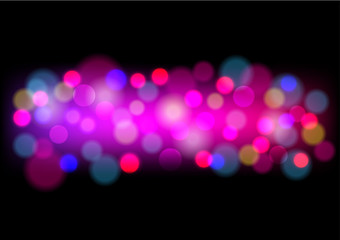 Blurred colorful background with bokeh. Abstract gradient desktop wallpaper. Vector illustration