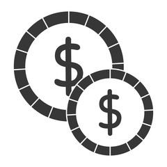 coins money isolated icon